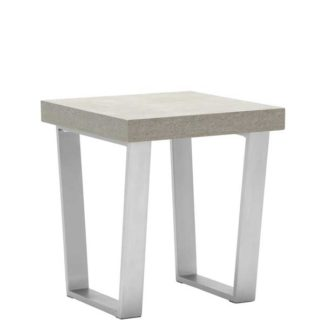 An Image of Halmstad End Table Concrete