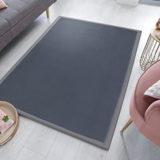 An Image of Keira Memory Foam Rug Dark Grey
