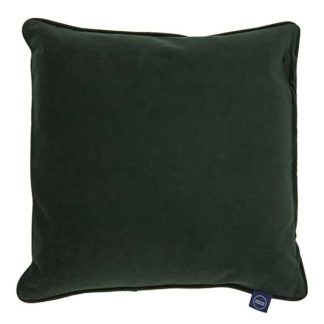 An Image of Plush Velvet Cushion Dark Forest