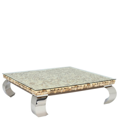 An Image of Caspian Terni Large Square Reclaimed Wood Coffee Table