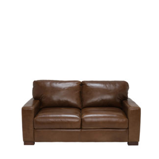 An Image of Lorenza Leather Loveseat Fibre Seats