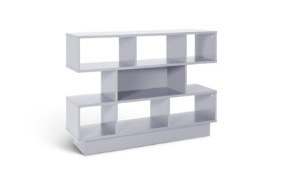An Image of Habitat Cubes 3 Tier Wide Bookcase - Grey