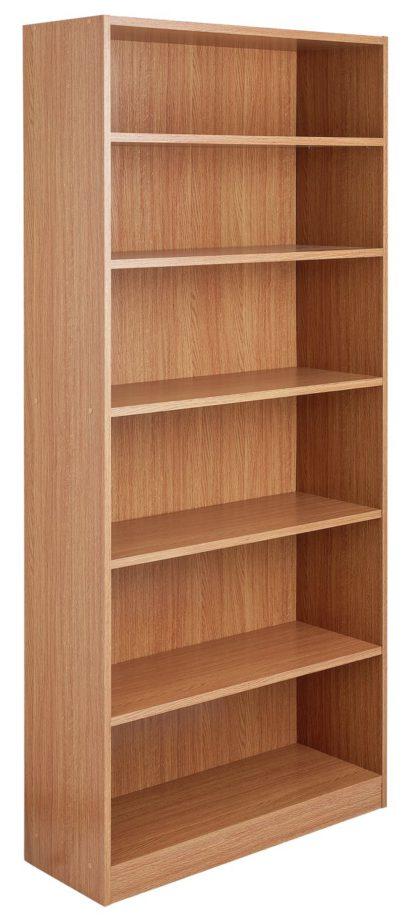 An Image of Habitat Maine 5 Shelf Tall & Wide Deep Bookcase - White