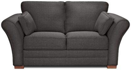 An Image of Argos Home Thornton 2 Seater Fabric Sofa - Light Grey