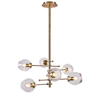 An Image of Orion 6 Bubble Pendant Clear Glass