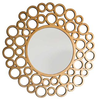 An Image of Deco Circles Mirror Gold