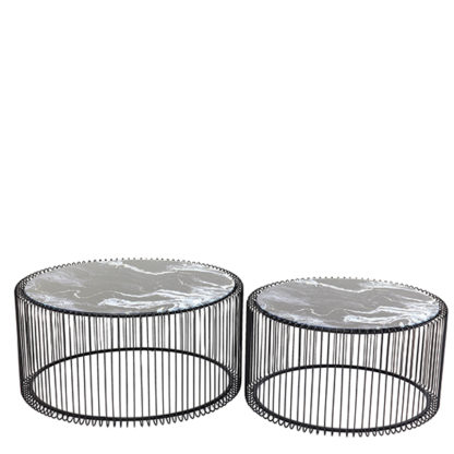 An Image of Saturn Set of 2 Coffee Table