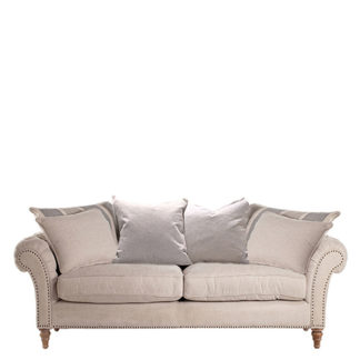 An Image of Craven Large Sofa With Studs