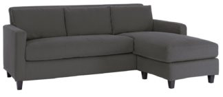 An Image of Habitat Chester 3 Seater Reversible Chaise Sofa - Charcoal