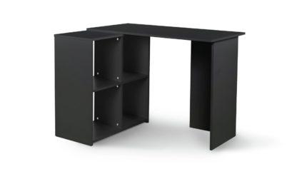 An Image of Habitat Calgary Corner Office Desk - Black