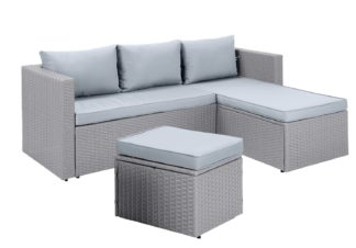 An Image of Habitat Mini Corner Sofa Set with Storage - Grey