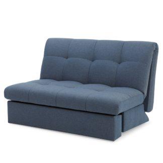 An Image of Navy Rowan Small Double Sofa Bed Navy
