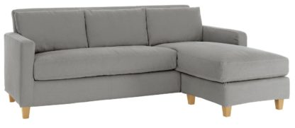 An Image of Habitat Chester 3 Seater Reversible Fabric Chaise Sofa Grey
