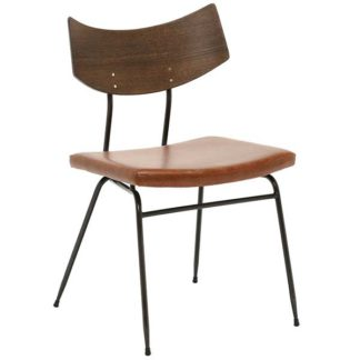An Image of Vega Soli Dining Chair Tan Leather