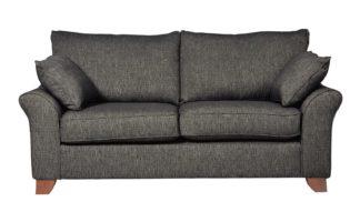 An Image of Habitat Gracie 3 Seater Fabric Sofa - Charcoal