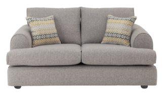 An Image of Habitat Atticus 2 Seater Fabric Sofa - Grey