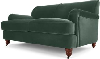 An Image of Orson 2 Seater Sofa, Autumn Green Velvet