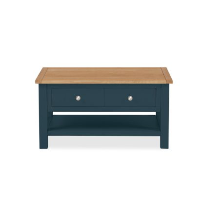 An Image of Bromley Blue Coffee Table Blue