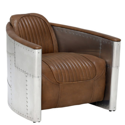 An Image of Timothy Oulton Aviator Tomcat Armchair Destroyed Raw