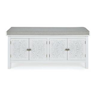 An Image of Samira Storage Bench White