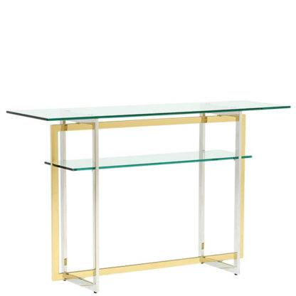 An Image of Escher Glass Console Table