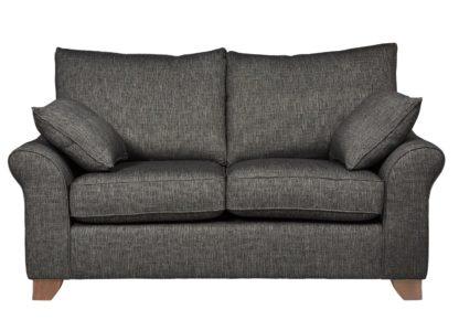 An Image of Habitat Gracie 2 Seater Fabric Sofa - Charcoal