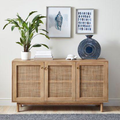 An Image of Indi Large Sideboard Wood (Brown)