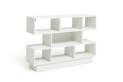An Image of Habitat Cubes 3 Tier Wide Bookcase - White