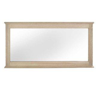 An Image of Charente Wide Wall Mirror Chalk Oak