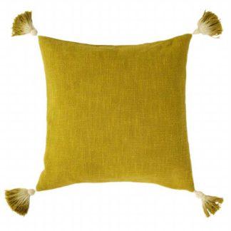 An Image of Juniper Tassel Cushion Moss