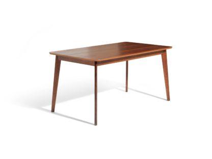An Image of Habitat Skandi Walnut Veneer 6 Seater Dining Table