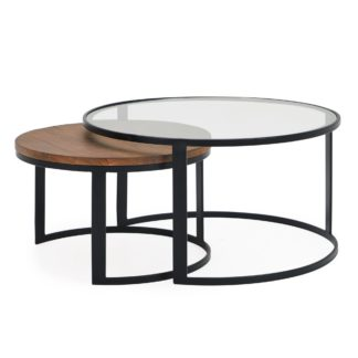 An Image of Jackson Set of 2 Coffee Tables Brown