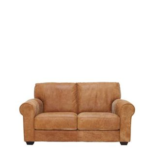 An Image of New Houston Leather 2 Seater Sofa