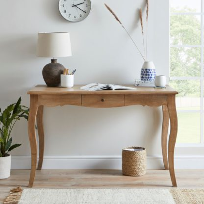 An Image of Giselle Dressing Desk Wood (Brown)