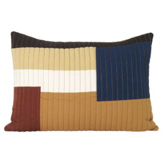 An Image of ferm LIVING Shay Quilt Cushion Mustard 60 x 40cm