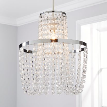An Image of Tina Easy Fit Pendant Clear and Chrome