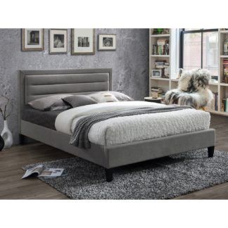 An Image of Picasso Grey Bed Frame Grey