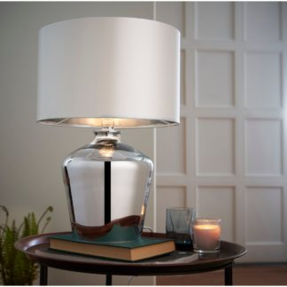 An Image of Courtland Table Lamp Chrome