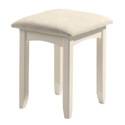 An Image of Cameo White Dressing Table Stool White