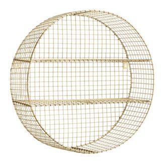 An Image of Circular Wire Wall Shelf Brass