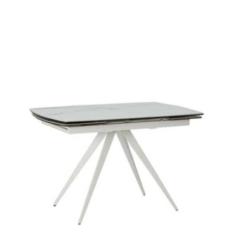 An Image of Livorno Extending Dining Table Staturio and White