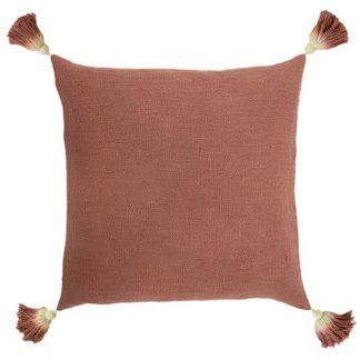 An Image of Juniper Tassel Cushion Blush