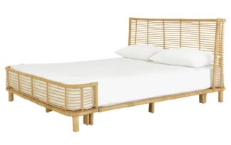 An Image of Habitat Nadia Double Bed Frame - Rattan
