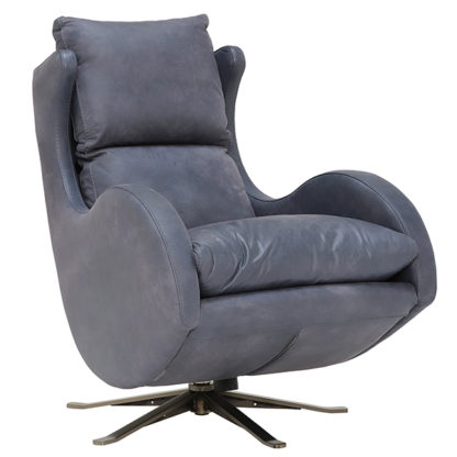 An Image of Fama Lenny Rocking Swivel Armchair Leather