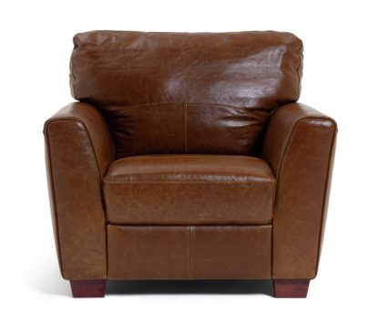 An Image of Habitat Milford Leather Chair - Tan