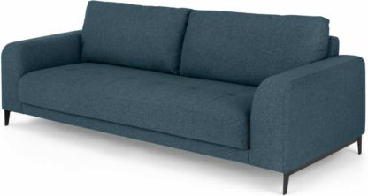 An Image of Luciano 3 Seater Sofa, Orleans Blue