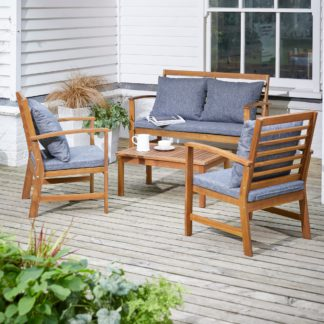 An Image of Honolulu 4 Seater Wooden Conversation Set Multi Coloured
