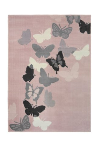 An Image of Homemaker Butterfly Rug - 160x230cm - Pink