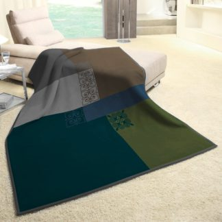 An Image of Thermosoft Mira Green Blanket MultiColoured