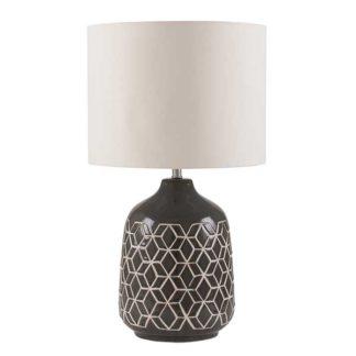 An Image of Geo Ceramic Table Lamp Dark Grey